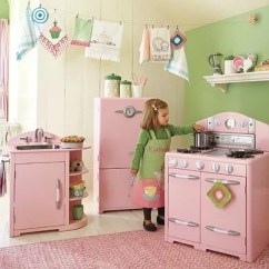 Retro Kids Kitchen Bronze Faucet Pull Down Pottery Barn Pink Collection