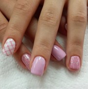 pink plaid 50 nail art ideas