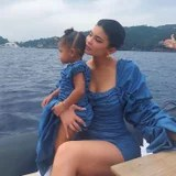 Kylie and Stormi Wore Matching Blue Dresses in Italy, and I Cant Fathom the Cuteness