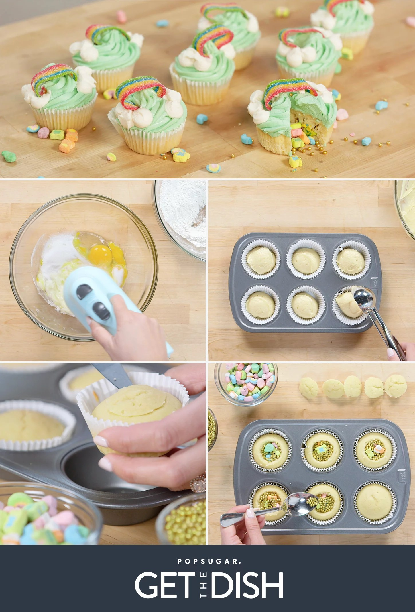 Surprise Inside Lucky Charms Cupcakes Recipe