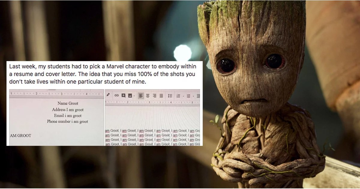 Student Writes Resume and Cover Letter as Groot  POPSUGAR Moms