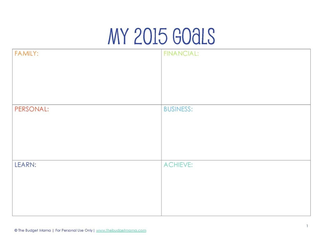 Open Ended Resolutions Printable