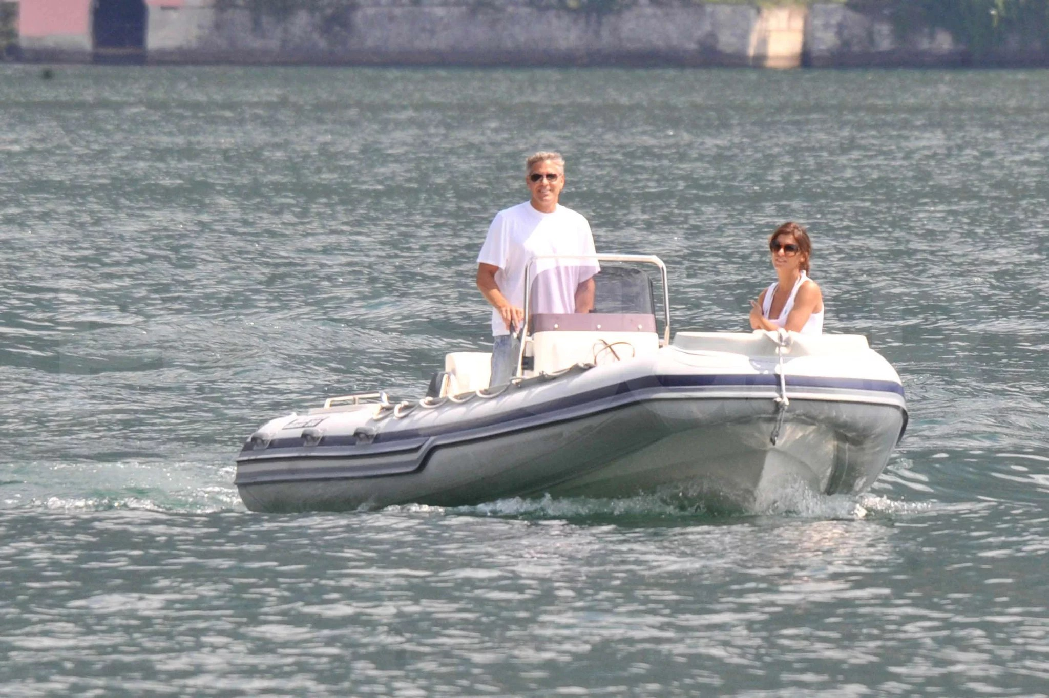 Photos Of George Clooney And Elisabetta Canalis On Boat In
