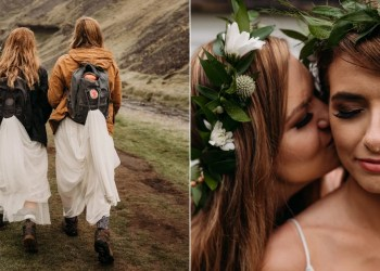 These Brides Eloped on a Rainy Day in Iceland, and Their Hiking Boots Are Everything