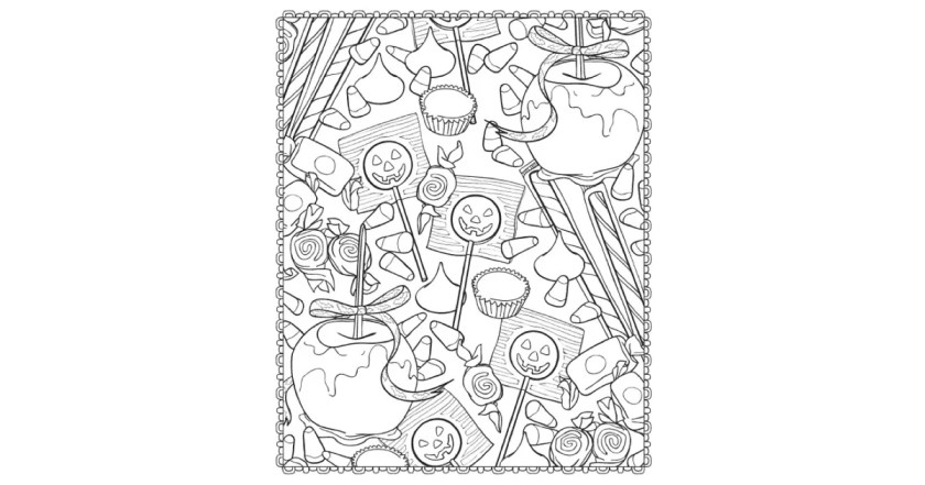 get the coloring page candy  20 printable halloween