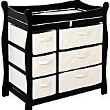 Badger Basket Baby Changing Table — Black
