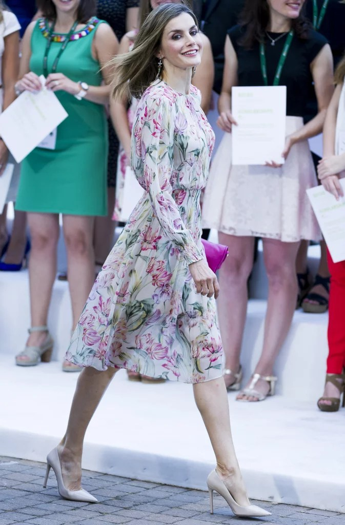 d9441f5c Queen Letizia's Zara Floral Dress July 2016 Popsugar Latina Photo 2