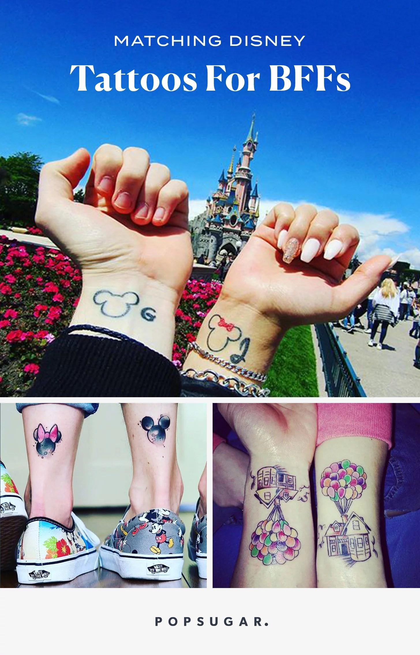 Disney Best Friend Tattoos : disney, friend, tattoos, Matching, Disney, Tattoos, POPSUGAR