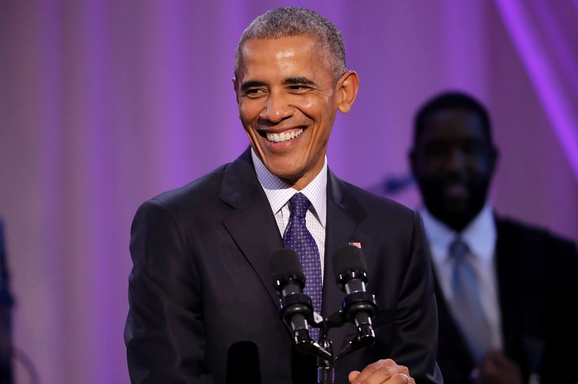 WASHINGTON, DC - OCTOBER 21:  U.S. President Barack Obama delivers remarks during the BET's 'Love and Happiness: A Musical Experience
