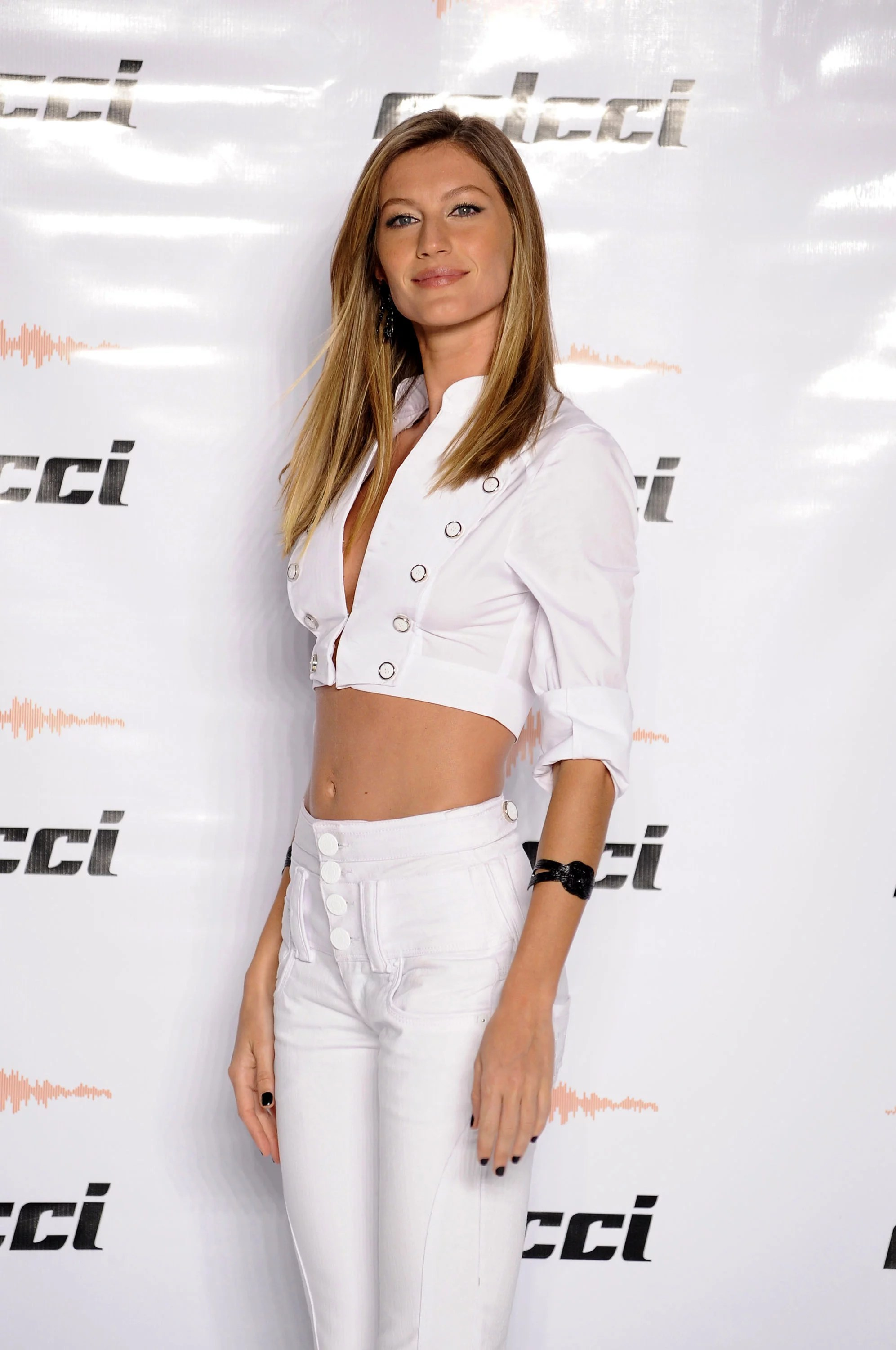Photos of Newly Engaged Gisele Bundchen Modeling on the Runway for Colcci During Sao Paulo