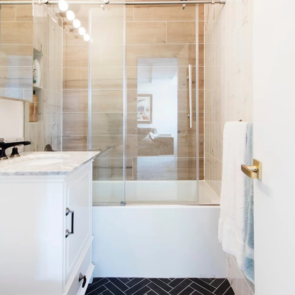 small bathroom remodels before
