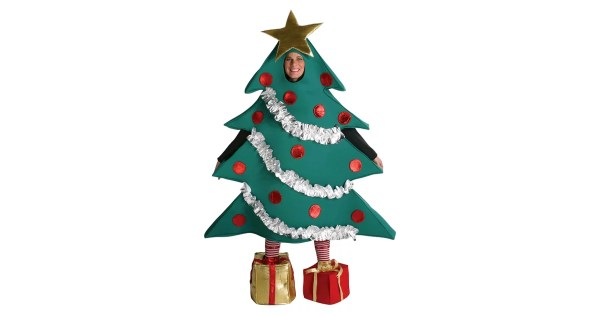 Christmas Tree With Shoe Boxes Adult Costume 60
