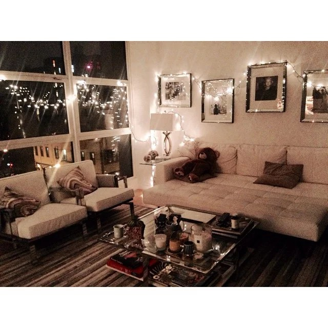 decorating a sofa console table reclining loveseat bed gigi hadid's apartment style | popsugar home australia