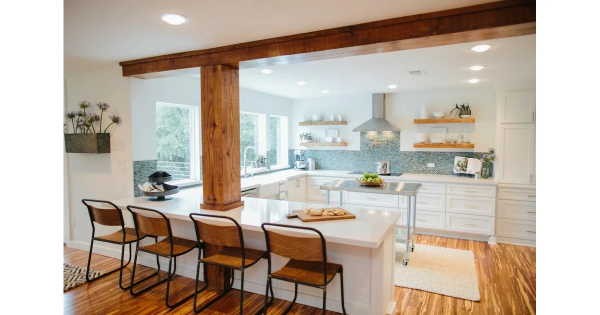 chip kitchen cabinets furniture for small best fixer upper makeovers | popsugar home photo 5