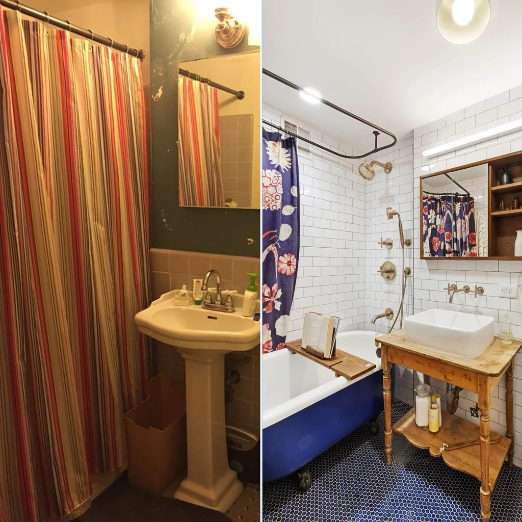 Small Bathroom Remodels Before and After  POPSUGAR Smart