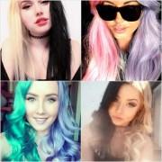 split-dyed hair color popsugar