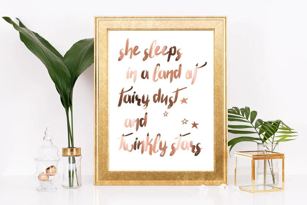 copper foil quote print