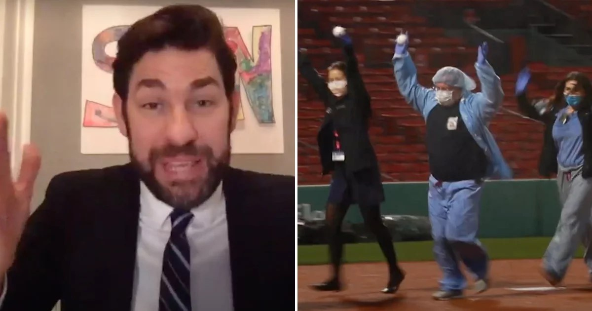 John Krasinski Surprised Boston Healthcare Heroes With an Unforgettable Trip to Fenway Park