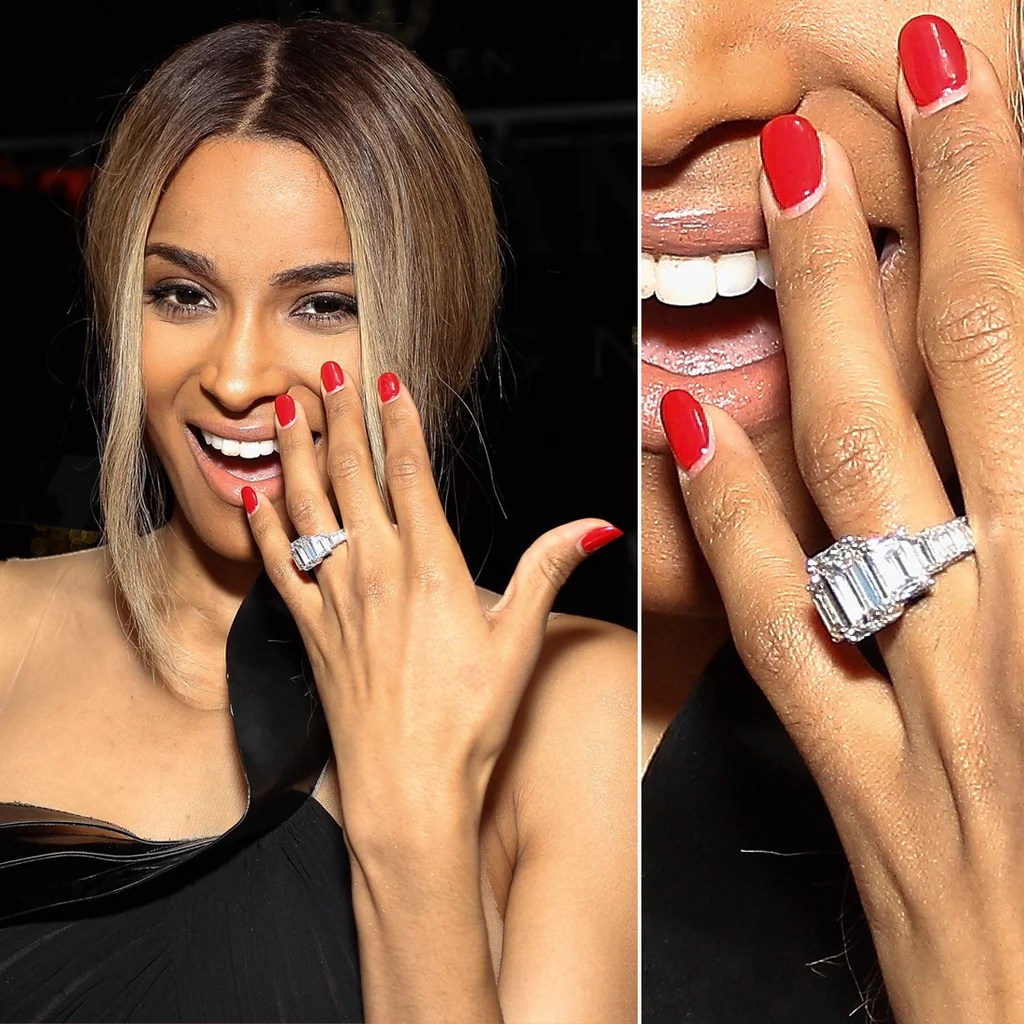 Biggest Celebrity Engagement Rings POPSUGAR Celebrity