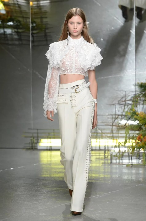 The outfit first made its appearance on the Rodarte runway on Sept. 13, 2016.
