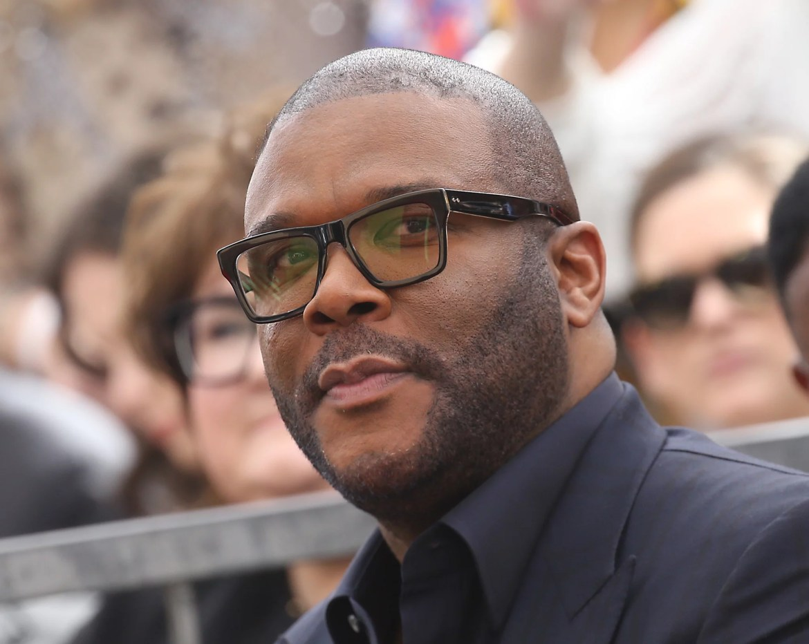 HOLLYWOOD, CALIFORNIA - FEBRUARY 21: Tyler Perry attends the ceremony honoring Dr. Phil McGraw with a Star on The Hollywood Walk of Fame held on February 21, 2020 in Hollywood, California. (Photo by Michael Tran/FilmMagic)