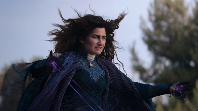 Kathryn Hahn as Agatha Harkness in Marvel Studios' WANDAVISION exclusively on Disney+. Photo courtesy of Marvel Studios. ©Marvel Studios 2021. All Rights Reserved.