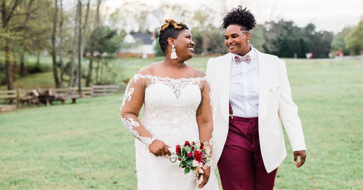 These Brides' Intimate Outdoor Wedding Was Filled With So Many Love-Filled Moments