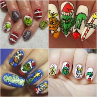 Grinch Holiday Nail Art Ideas | POPSUGAR Beauty