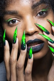 trend flame nails nyfw spring
