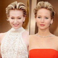 Portia de Rossi and Jennifer Lawrence   Red Carpet Hair ...