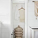 The shower was widened to feel extraluxe, and it even includes a rain showerhead.   Source: Cody Ulrich via Homepolish