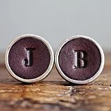 Personalized Leather Cufflinks
