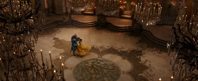 BEAUTY AND THE BEAST, from left: Dan Stevens, Emma Watson, 2017.  Walt Disney Pictures /courtesy Everett Collection