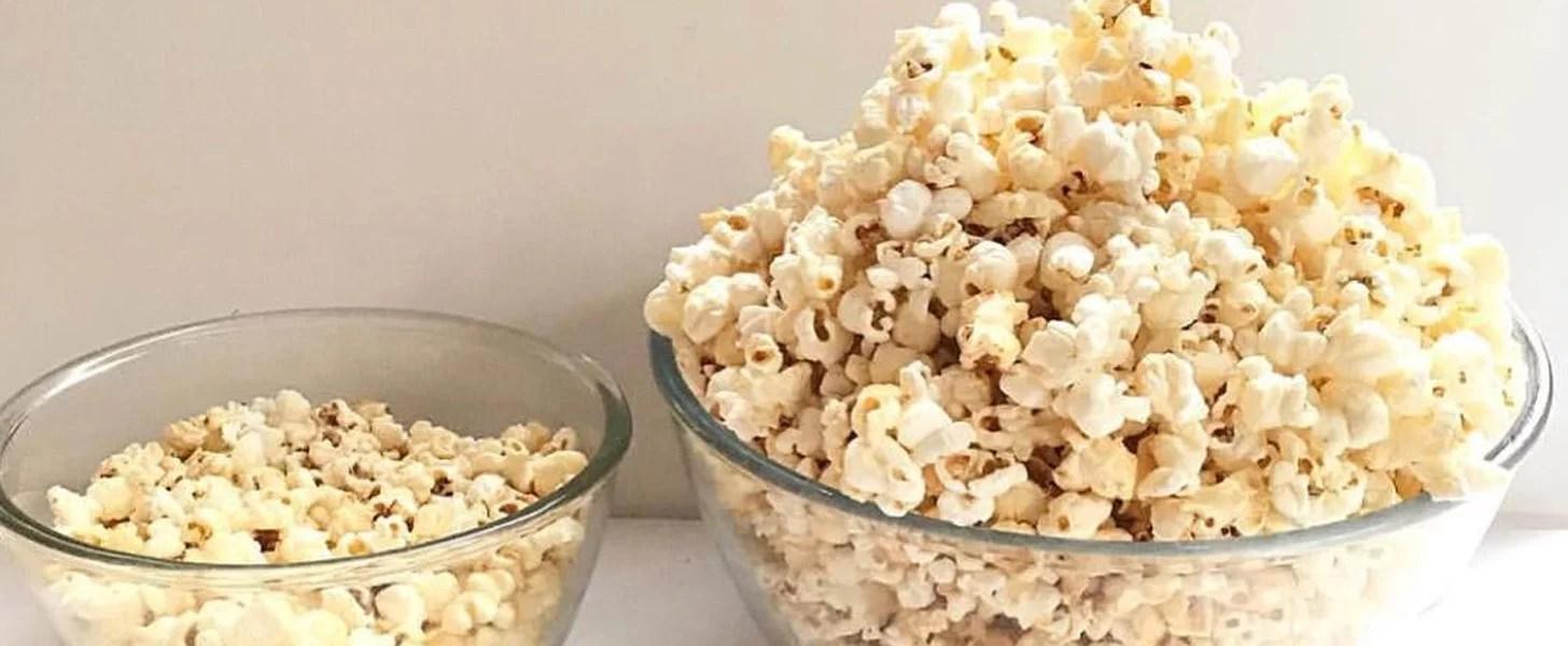 homemade and microwave popcorn