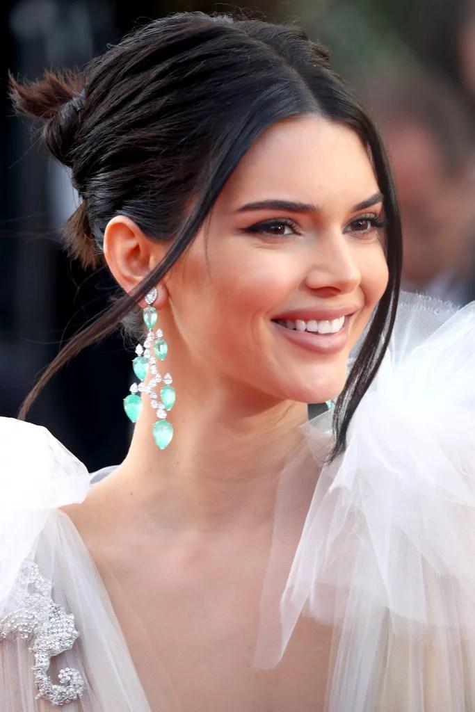 Kendall Jenner White Sheer Gown Cannes 2018 POPSUGAR