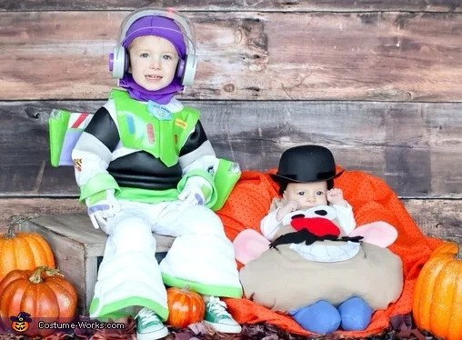 Buzz Lightyear and Mr Potato Head  Matching Sibling