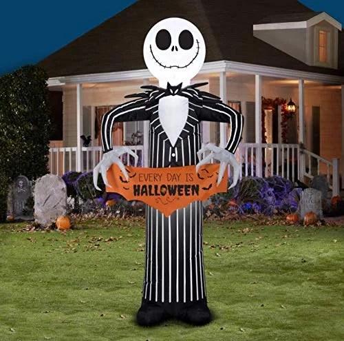 Disney Jack Skellington Airblown Inflatable Every Day Is Halloween | Disney Halloween Decorations 2019 | POPSUGAR UK Parenting Photo 11
