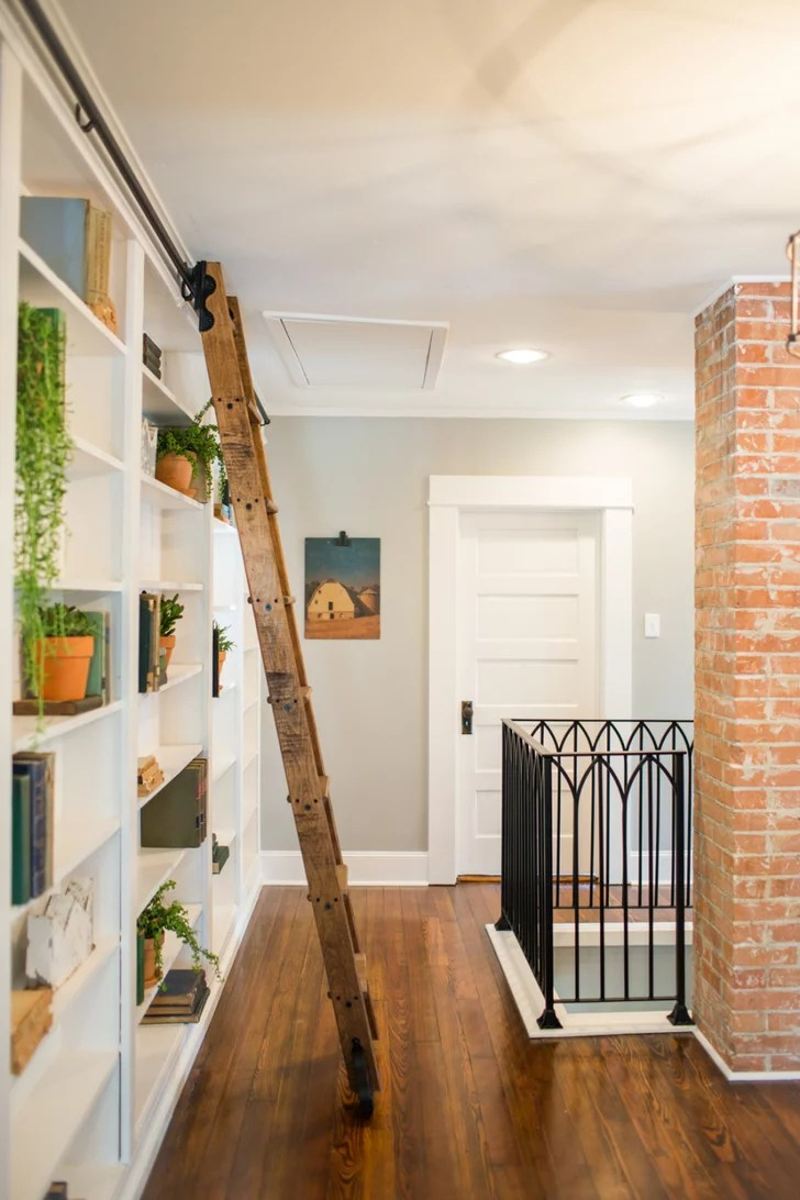 Adding a Sliding Ladder to a Bookcase  Fixer Upper