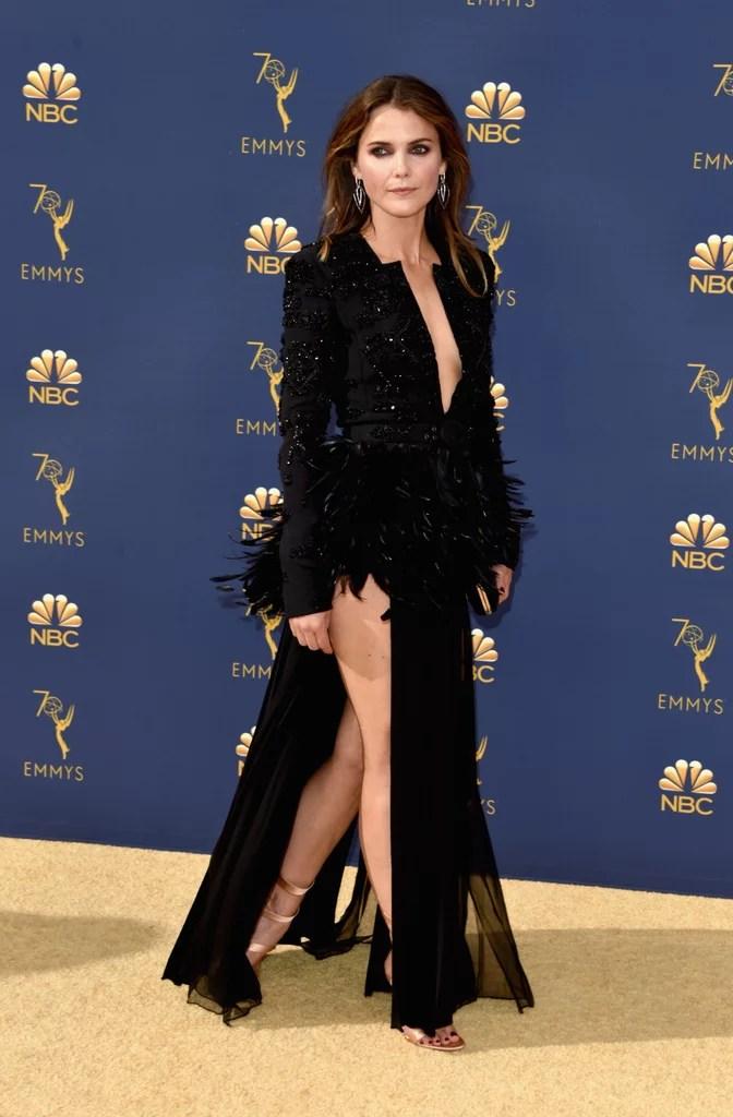 Keri Russells Black Dress At The 2018 Emmys POPSUGAR