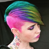 Peacock Coif | Sand Art Rainbow Hair Color | POPSUGAR ...