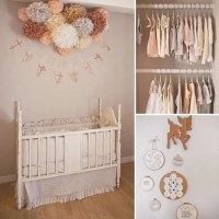 Peach and Gray Baby Girl Nursery | POPSUGAR Moms