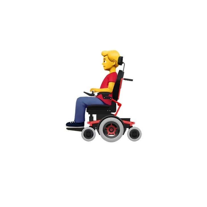 wheelchair emoji seat sacks for classroom chairs person in mechanized male apple disability themed