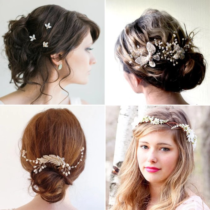 affordable bridal hair accessories etsy | popsugar beauty
