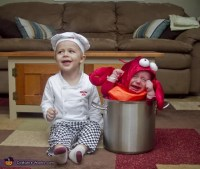Chef and Lobster | Matching Sibling Costumes For Kids ...