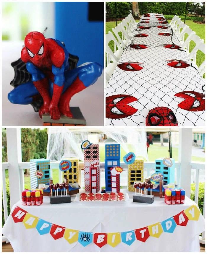 spider man themed birthday