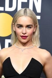 Emilia Clarke Celebrity Hair at the 2018 Golden Globes ...