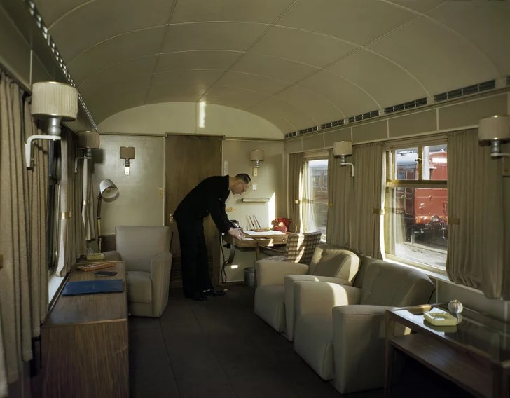 George VIs Lounge  The Royal Train  POPSUGAR Home Photo 8
