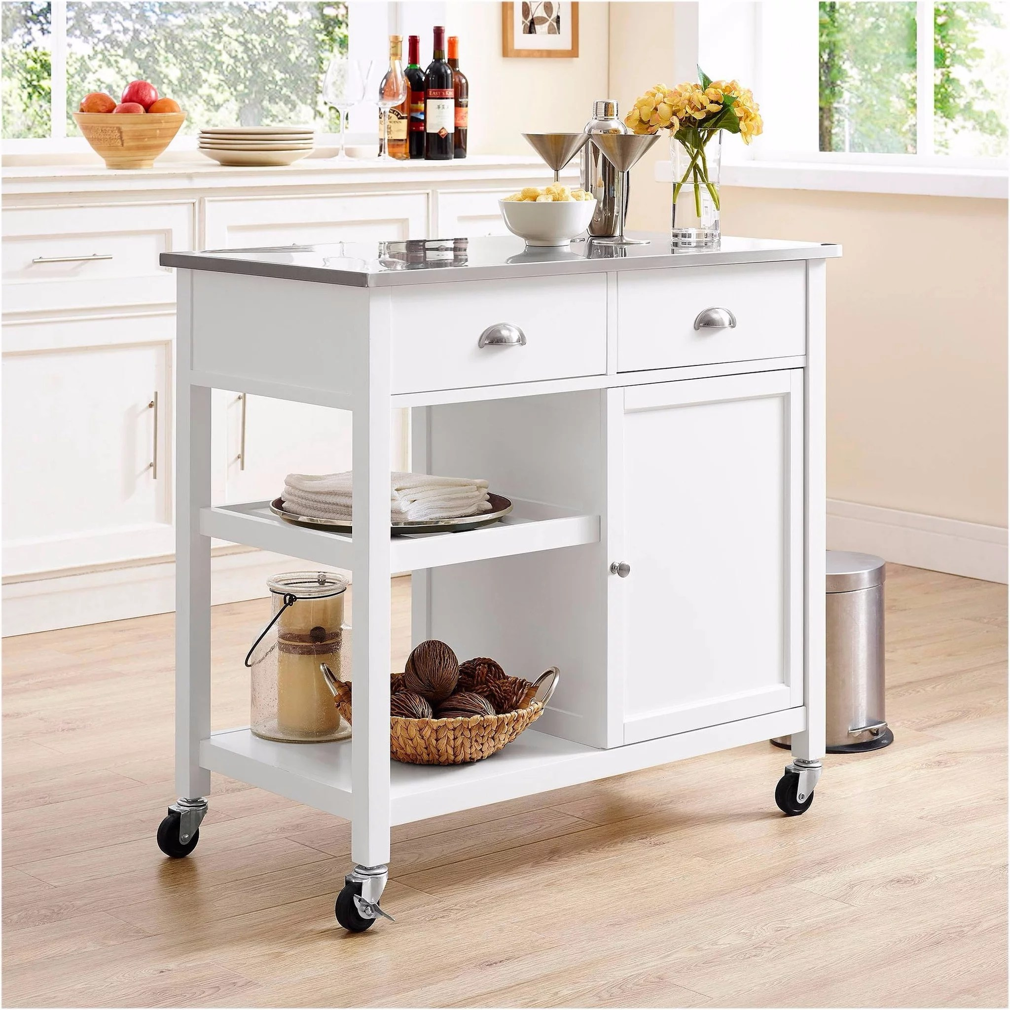 small kitchen island stainless steel stools islands for kitchens popsugar home