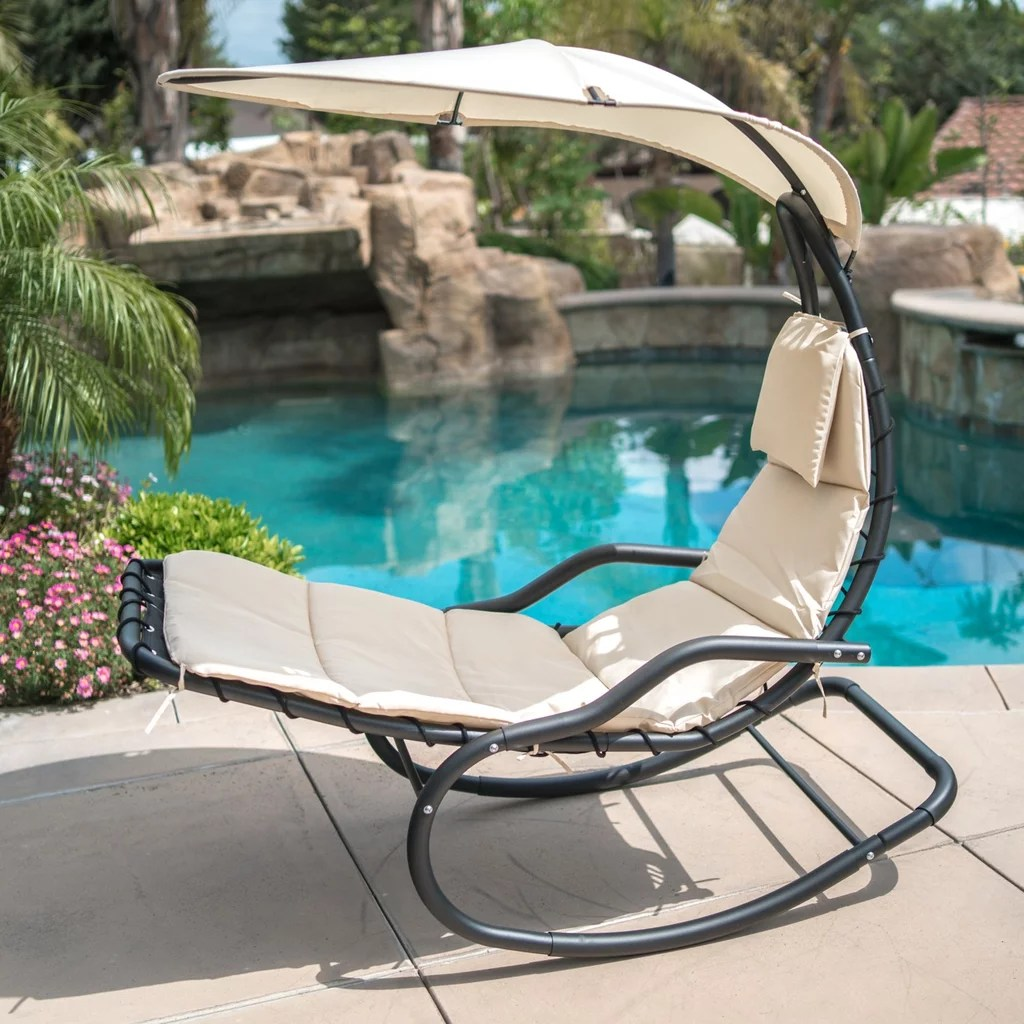 Hanging Patio Chair Belleze Hanging Rocking Sunshade Canopy Chair Best Patio