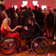 Wheelchair Glee Dining Room Sets With Upholstered Chairs Emma And Will S Wedding Pictures Popsugar